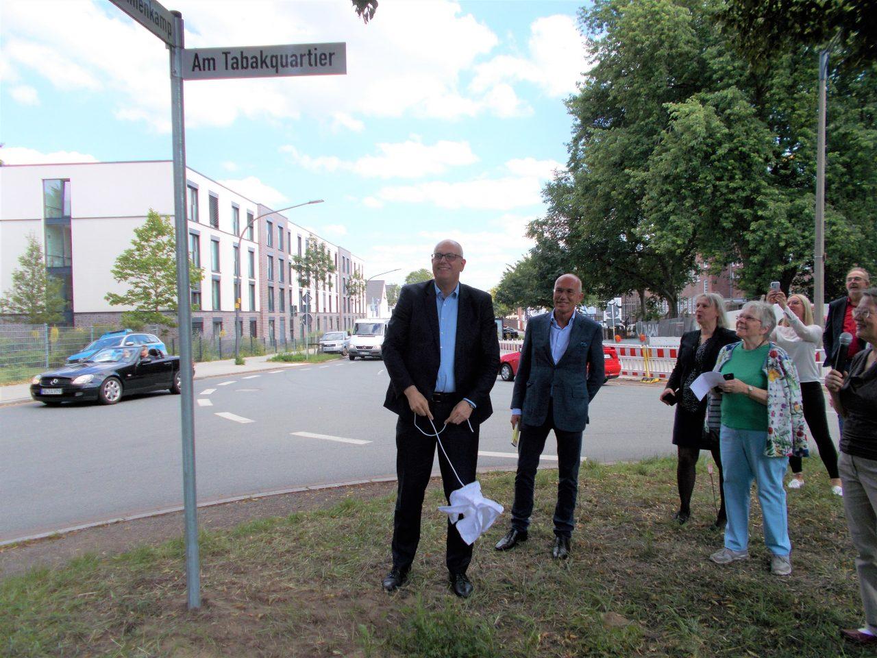 20200713_Von links Andreas Bovenschulte, Joachim Linnemann, Anja Schiemann, Edith Wangenheim