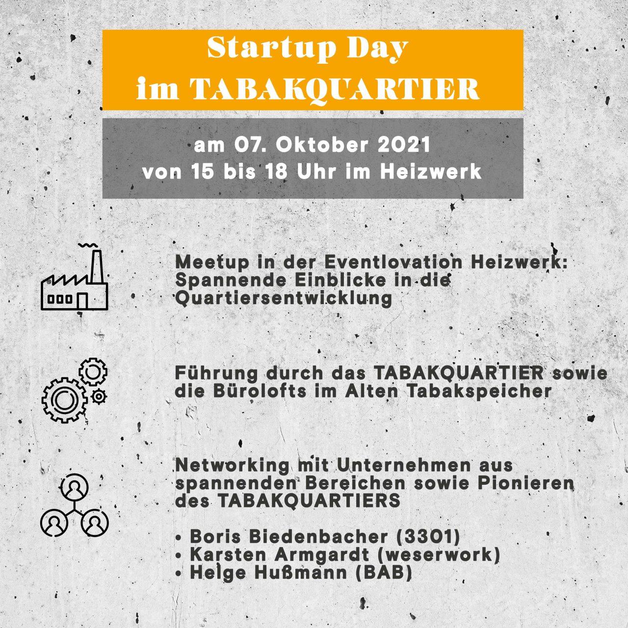 Ablaufplan Startup Event